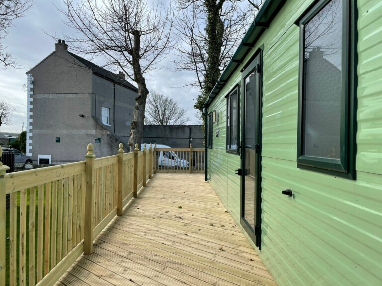Side view exterior, Brockenhurst Holiday Home, Bay View Holiday Park, North West, Morecambe Bay