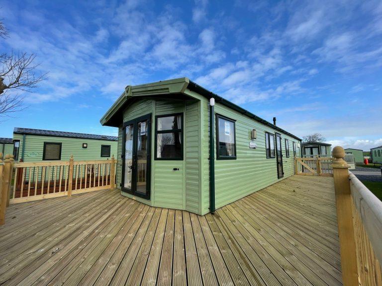 Deck on Brockenhurst Holiday Home, Bay View Holiday Park, North West, Morecambe Bay