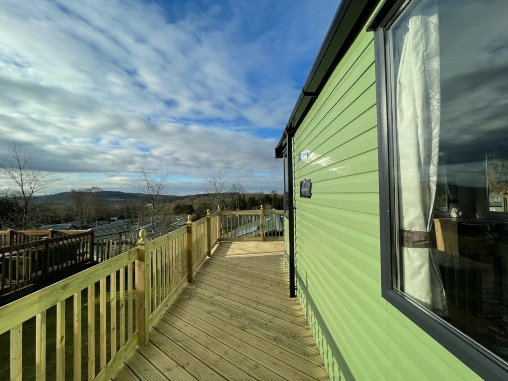 2021 Swift Bordeaux at Silver Ridge - Holgates holiday homes for sale (Side view with vista)