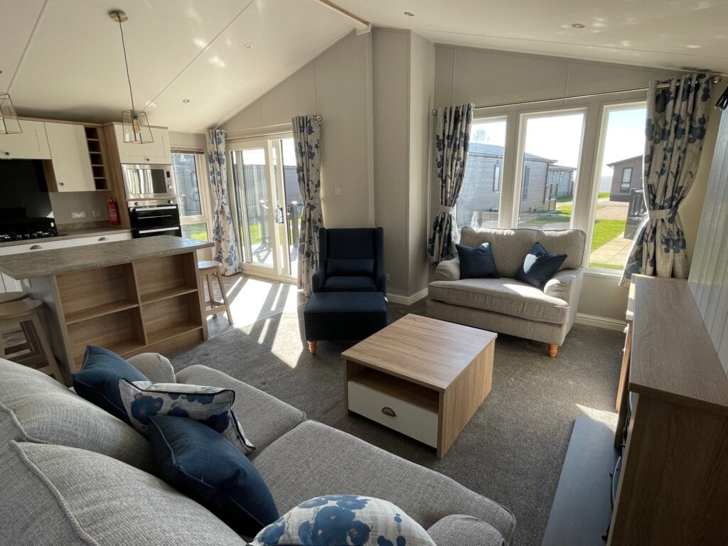 2021 Willerby Pinehurst at The Cove - Lounge and kitchen