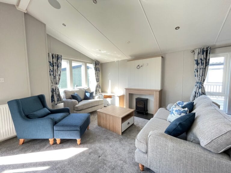 2021 Willerby Pinehurst at The Cove - Lounge with fireplace