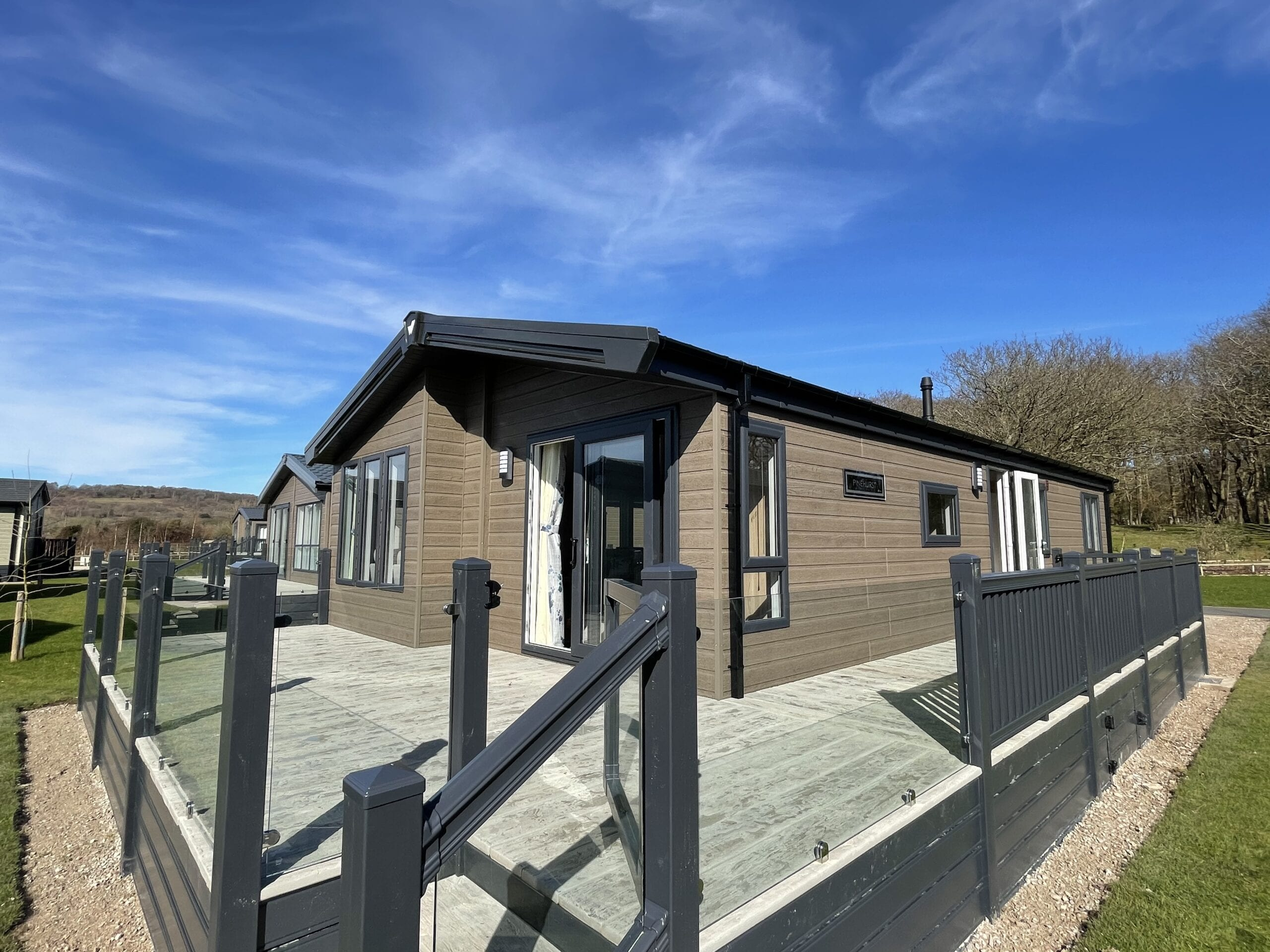 Willerby Pinehurst, 40' x 20' Three Bed Coastal Lodge - Deck View