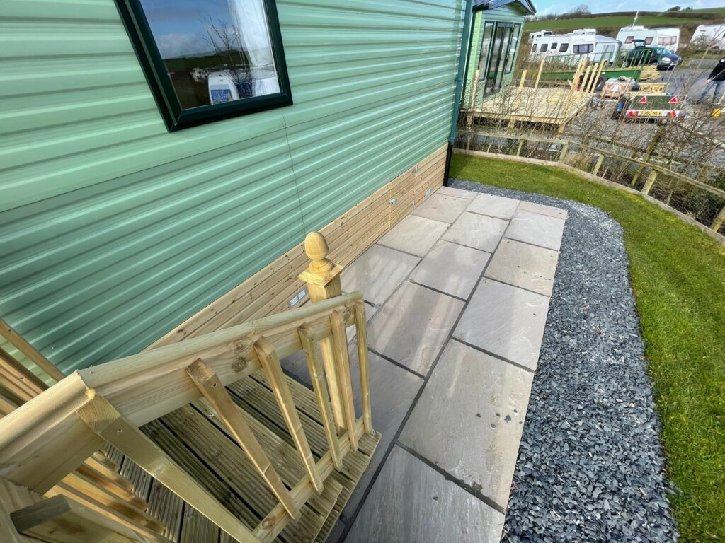 Side view of Willerby Winchester Holiday Home at Bay View Holiday Park, North West, Morecambe Bay