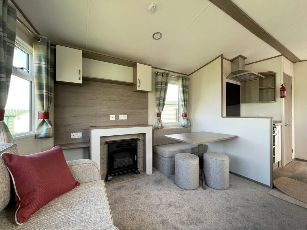 2021 ABI Oakley at Bay View Holiday Park North West Morecambe Bay - Lounge with fireplace