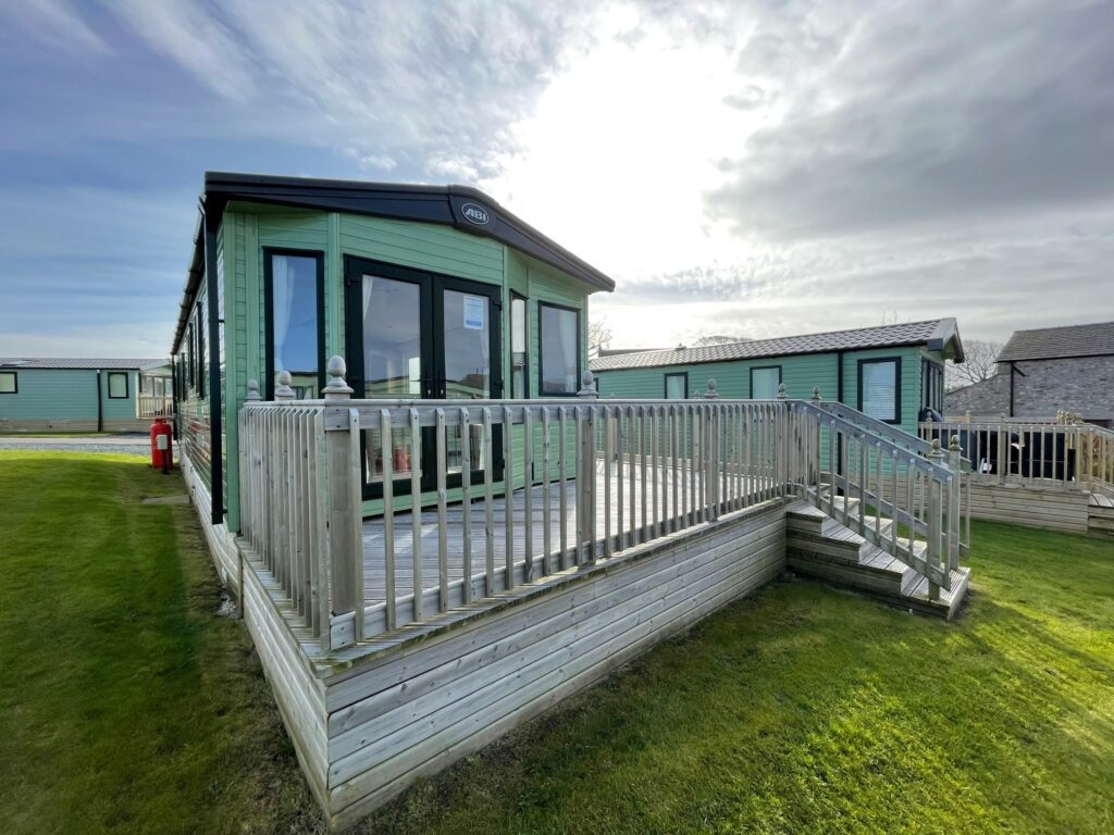Previously Owned 2018 ABI Blenheim at Bay View Holiday Park North West Morecambe Bay - View of deck