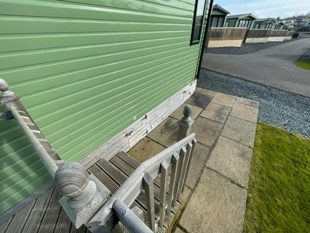Previously Owned 2018 ABI Blenheim at Bay View Holiday Park North West Morecambe Bay - Steps