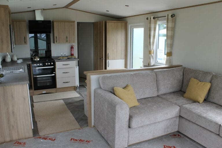 Previously Owned 2018 ABI Blenheim for sale at Bay View Holiday Park - Holgates - Open plan lounge and kitchen