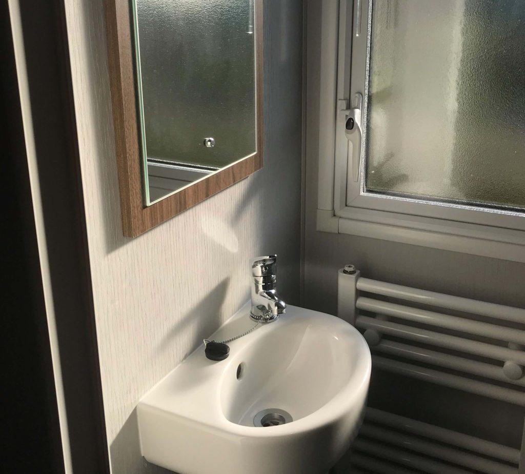 Bathroom in 3-bed at Bay View, Morecambe Bay Holiday Park- Holgate