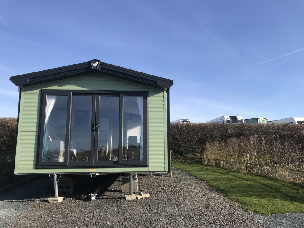 External view of unit at Willerby, Avonmore, Bay View Holiday Park- Holgate