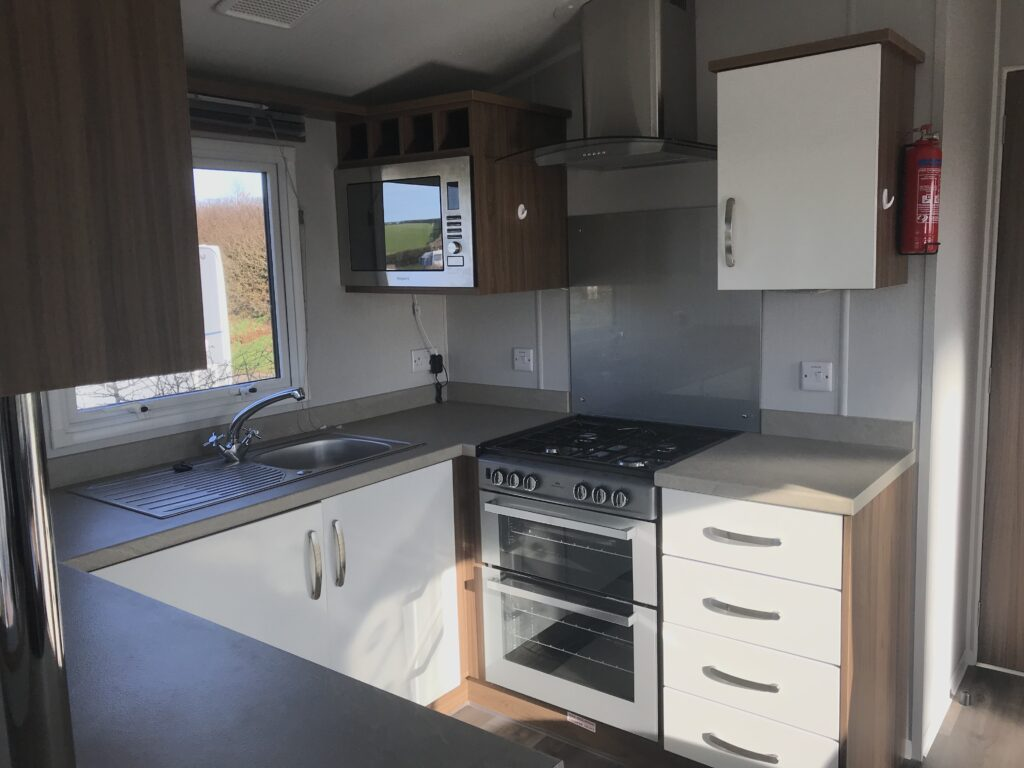 Kitchen in 3-bed at Willerby, Avonmore, Bay View Holiday Park- Holgate