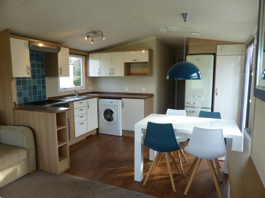 Swift Arnside at Netherbeck Holiday Park - Kitchen and Dining Area