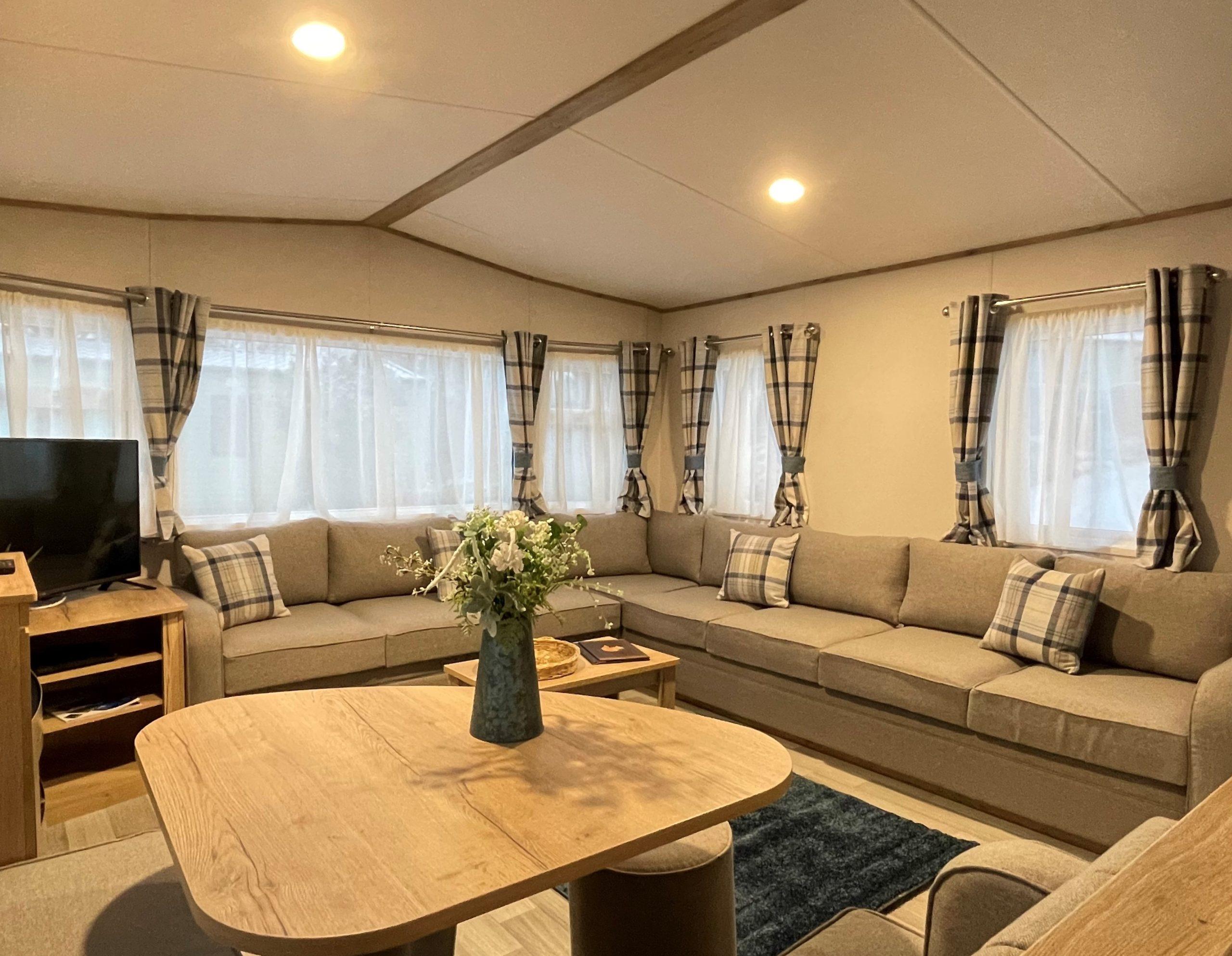 Holgates Holiday parks in Cumbria - Caravan living area