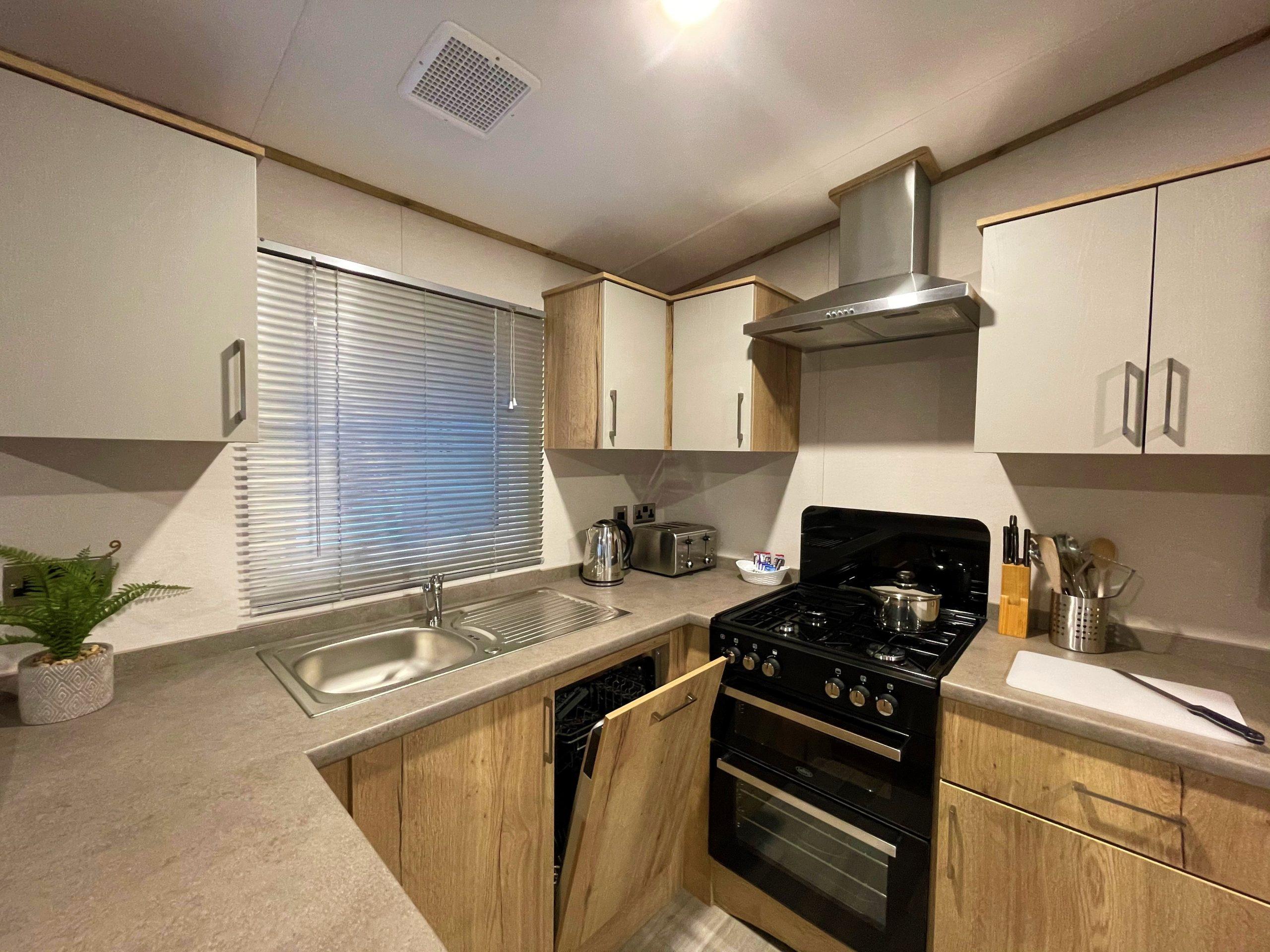 Holgates Holiday parks in Lancashire - Caravan kitchen