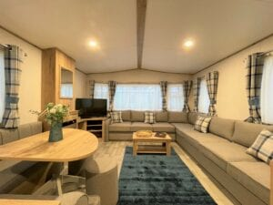 Holgates Holiday parks in Lancashire - Caravan living area