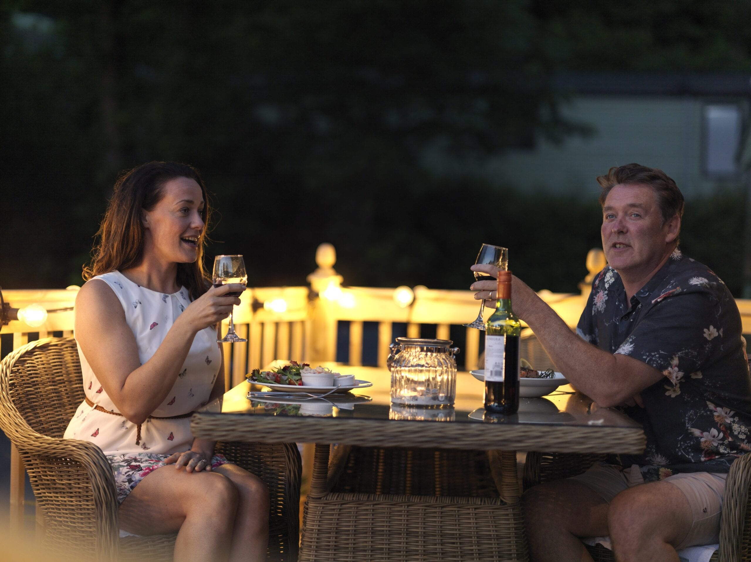 Holgates Holiday parks in Lancashire - Silverdale - Couple enjoying a meal
